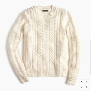 J. Crew | Wool Cable Knit Sweater